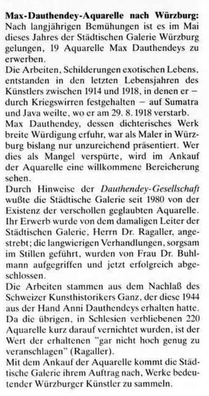 Dauthendey-Aquarelle